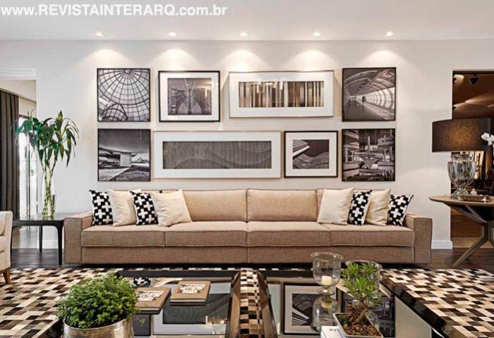 A Mostra de decoração traz um living urbano, em tons de cinza - Revista InterArq | Arquitetura, decoração, design, interiores, paisagismo, lifestyle e festas