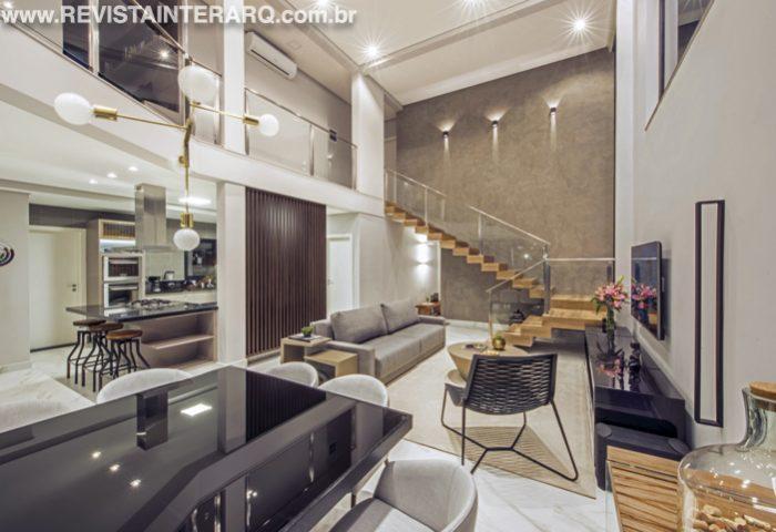 Esta arquitetura de interiores valorizou a proposta de integração entre os diversos ambientes sociais da casa - Revista InterArq | Arquitetura, decoração, design, interiores, paisagismo, lifestyle e festas