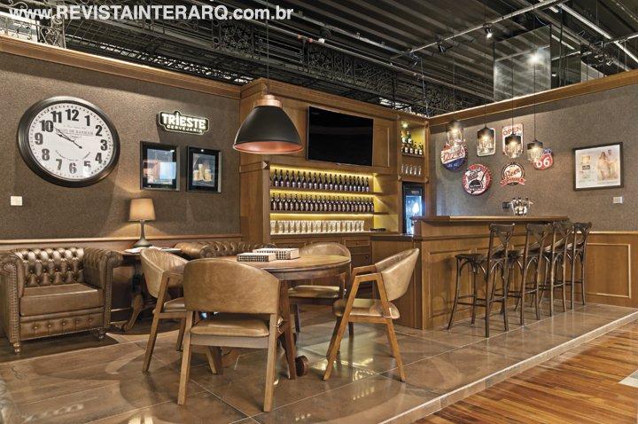 O home pub é um ambiente perfeito para receber os amigos - Revista InterArq | Arquitetura, decoração, design, interiores, paisagismo, lifestyle e festas