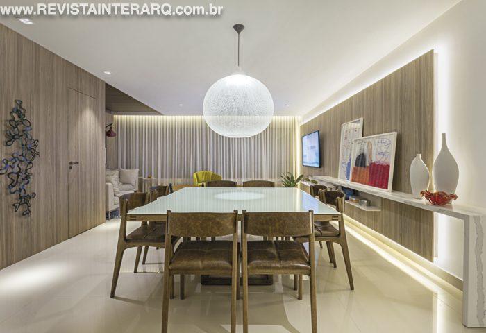 Aconchego aliado à estética foram prioridades nesse apartamento modelo - Revista InterArq | Arquitetura, decoração, design, interiores, paisagismo, lifestyle e festas