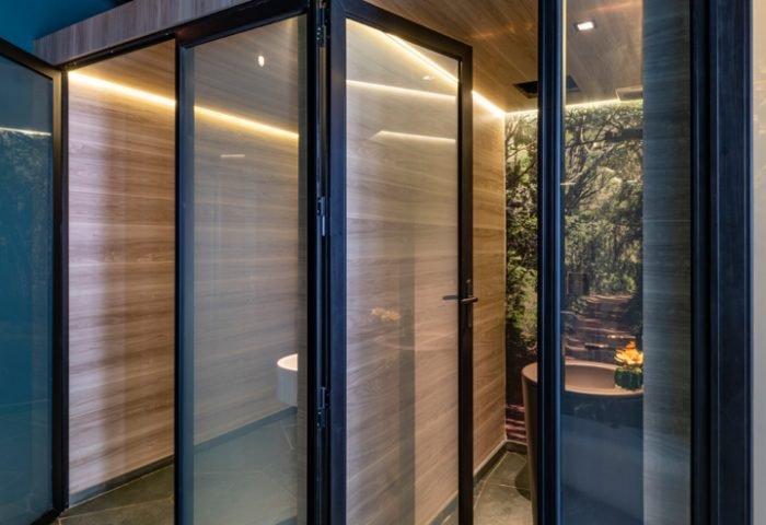 Ambiente: - Banheiro Voyeur Profissional: Unik Arquitetura e Estúdio Aker Foto: Renato Navarro
