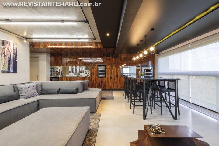 Um design de interiores bem urbano foi o que Márcia Buschinelli e Rodrigo Ramos propuseram para este apartamento - Revista InterArq | Arquitetura, decoração, design, interiores, paisagismo, lifestyle e festas