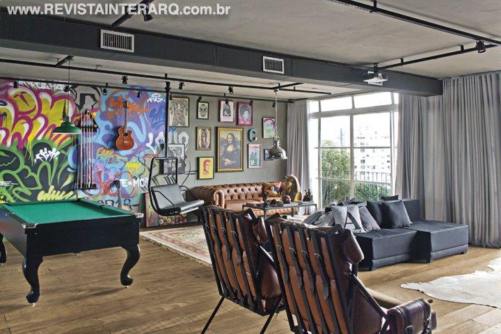Para o ator Caio Castro, a Mora Estúdio criou um apartamento que foge do óbvio com ambientes arrojados e funcionais - Revista InterArq | Arquitetura, decoração, design, interiores, paisagismo, lifestyle e festas