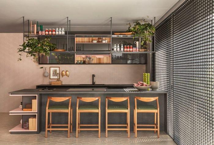 Lounge de entrada e varanda gourmet por Adriana Fontana